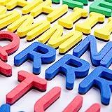 Galoxee Magnetisches Alphabet mit Tafel, 119 Magnet-Buchstaben, für tausende Wortvariationen und ganze Sätze, besonders stark haftende Bunte ABC-Magnete für Vorschüler und...