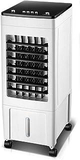 Qi Kang Evaporativo Portátil, Refrigeración 3 en 1 Portatil Climatizador 1-15h Temporizadores Aire Acondicionado Ventilador de Pie (6L) con 3 Velocidades-002 Estilo mecánico