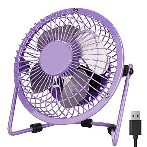 Mini Desk Fan Purple