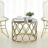LINLIN Set di 1 tavolini Laterali e Sedia per Soggiorno Tavolini Rotondi Occasionali e tavolini Estraibili per spazi Piccoli, Moderni per Soggiorno Comodini in Metallo,A