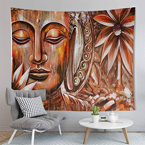 WERT 3D Buddha Wandteppich Wandbehang Stoff Wandteppich Wandteppich Teppich Dekoration Wandteppich Hintergrund Stoff A10 180x200cm
