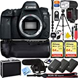 Canon EOS 6D Mark II 26.2MP Full-Frame Digital SLR Camera (Body Only) Pro Memory Triple Battery & Grip SLR Video Recording Bundle - Newly Released 2018 Beach Camera