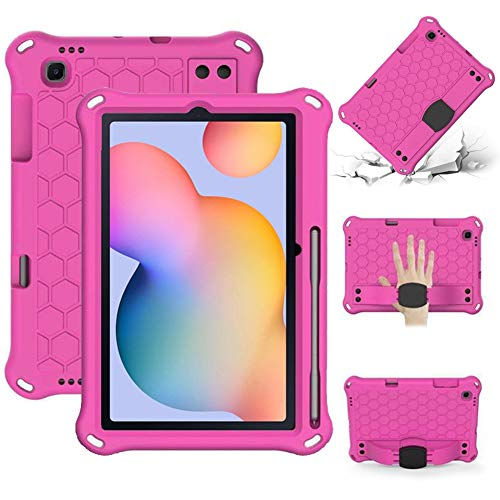RZL PAD & TAB cases For Samsung Galaxy Tab S6 Lite 10.4, EVA PC Shockproof Case Lightweight Handle Stand Tablet Case For Samsung Galaxy Tab S6 Lite 10.4 2020 P610/P615 (Color : Rose)