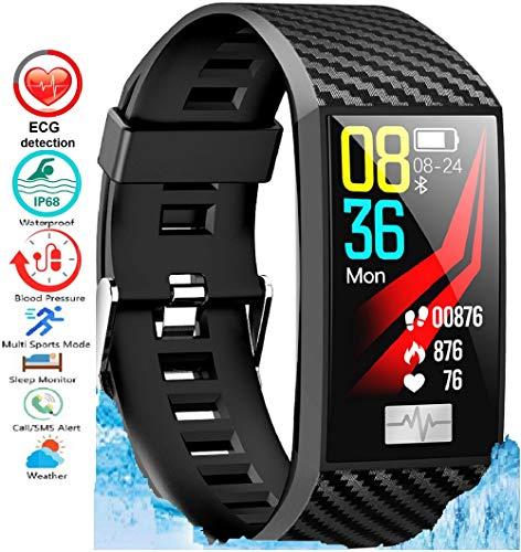 N3 ZELEK Smart Watch Bloeddrukmeter Fitness Tracker ECG PPG HARTSLAGMONITOR STERKE BATTERIJ Waterdicht IP68 50m Kleurenscherm Activity Tracker voor Vrouwen Slaapmonitor Unisex Horloge