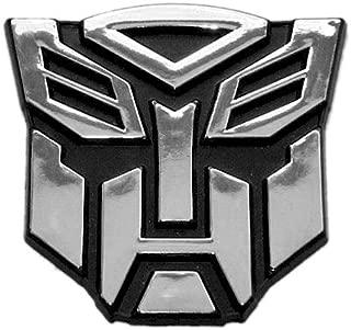 Transformer Autobot Chrome Finish Auto Emblem - 2 1/2