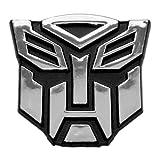 Transformer Autobot Chrome Finish Auto Emblem - 2 1/2' Tall