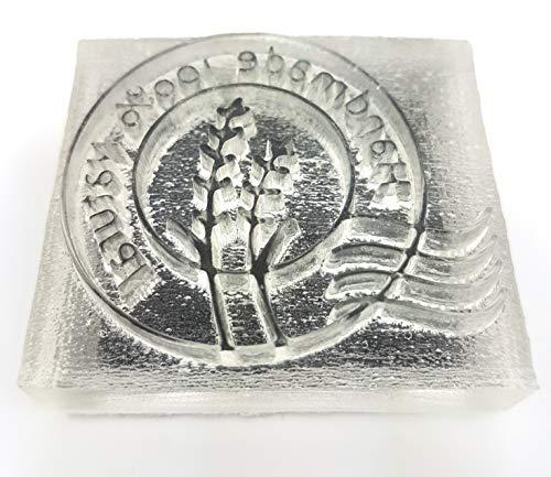 Sello de jabón de acrílico hecho a mano (100% hecho a mano).