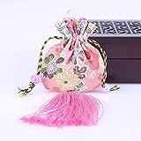 wangruimei Blumen Beutel Beutel Weinlesestickerei getrocknet Blumen Beutel Beutel (pink 2 Stück)