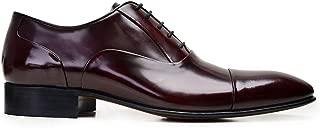 6506-F41 PIY-BORDO ACMA 507 Nevzat Onay Bağcıklı Bordo Deri Kösele Erkek Ayakkabı