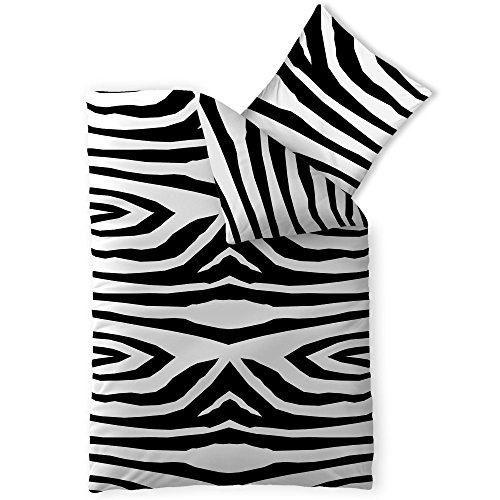 CelinaTex Harmony Kim Lenzuola Microfibra Africa Zebra Bianco Nero 155 x 220 cm