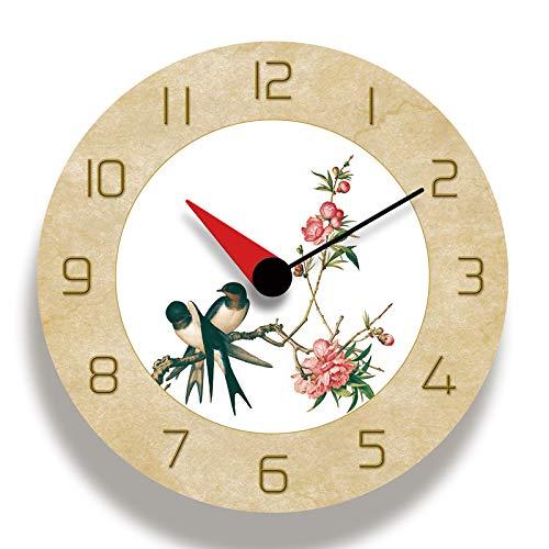 Reloj de pared de pintura china reloj de pared acrílico mudo movimiento solar hogar sala decoración oficina/hogar/escuela/cocina decoración relojes