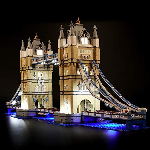 BRIKSMAX Led Beleuchtungsset für Creator Tower Bridge, Kompatibel Mit Lego 10214 Bausteinen Modell - Ohne Lego Set