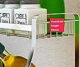 AWSD Porta spezie, portabottiglie in Acciaio Inossidabile a 3 Livelli, montabile a Parete, Contenitore per spezie, lattine, Contenitore per contenitori, Porta spezie per Cucina