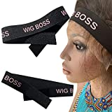 2 Wig Boss melt belt for wigs | Lace Melt Band | Elastic Edge Laying Band wig band with Adjustvelcro | For closure wigs, Frontal wigs and Baby Hair (Light Pink)