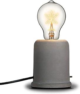 Injuicy Rétro Edison Vintage Industriel Socle en Bois Métal Lampes de Table Antique Fer Forgé Conduite D'eau Steampunk Lam...