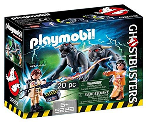 CAZAFANTASMAS-Venkman y Terror Dogs Playset de Figuras de Juguete, Multicolor, 7,2 x 14,2 x 18,7 cm Playmobil 9223