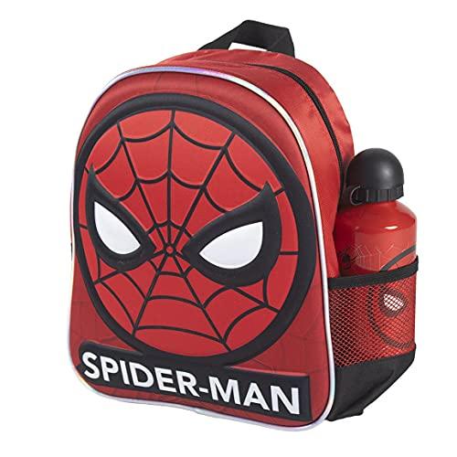 CERDÁ LIFE'S LITTLE MOMENTS 2100003595, Zaino per Bambini con Bottiglia d'Acqua Spiderman-Licenza Ufficiale Marvel, Blu, Mochila recomendada para Niños 3-6 Anni, en edad de preescolar