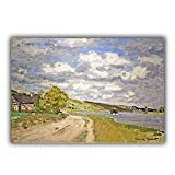 ETZKYA Varios Tamaños Claude Monet Póster Impresión Sala Habitación Decoracion Monet Pared ArteLa Ría De La Siena Pintura Hogar Decoracion Lienzo Claude Monet Artwork