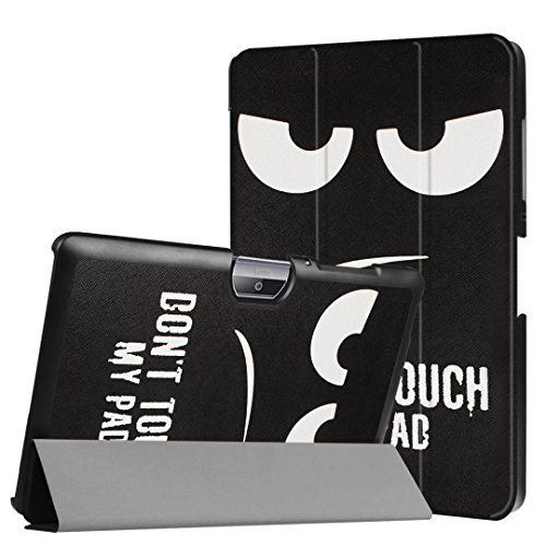 Schutzhülle für Acer Iconia Tab One 10 B3-A30 B3-A32 A3-A40 10.1 Zoll Hülle Bookstyle Cover Hülle (Dont Touch My Pad)
