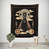ROUNCO Moon Phase Tapestry Flower Wall Tapestry with Art Nature Home Decorations for Living Room Bedroom Dorm Decor (59.1' x 82.7', Skull-02)
