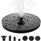 Solar Fountain Pump, 1.4w Circle Garden Solar Water Fountain Solar Powered Water Pump with 6 Nozzles, Solar Pond Pump for Water Feature, Fountain, Pool, Bird Bath, Garden Decoration, Water Cycling
