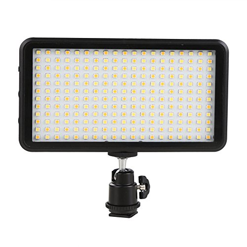 GIGALUMI W228 LED Video Light 6000k Dimmable Ultra Bright Panel Digital Camera/Camcorder Light, LED Light for Canon, Nikon, Pentax, Panasonic, Sony, Samsung and Olympus DSLR Cameras(No Battery)