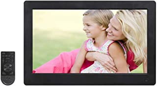 WW/&C Digital Picture Frame 15.6 inch HD Display Background Music 1080P Video USB SD Solt Supported Digital Photo Frame with Remote Control,Black