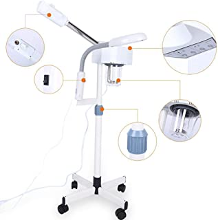 2 In 1 Facial Steamer Beauty Machine with 5X Cold Light Magnifying Glass,Magnifying Lamp