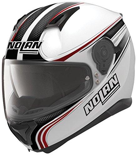 Nolan N87 Rapid Integralhelm Motorrad Polycarbonat n-com - Metall Weiss Größe M