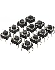 Geekcreit® 100 stuks Mini Micro Momentary Tactile Touch Switch Push Button DIP P4 Normaal Ope