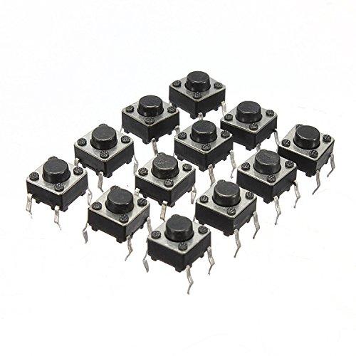 ILS - 100 Piezas Mini Micro momentáneo táctil El Tacto del botón Push Switch Dip P4 Normalmente Abiertos