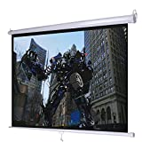 Giantex 120' 4: 3 Manual Pull Down Auto-Lock Projector Projection Screen 96'X72' White (HW47190)