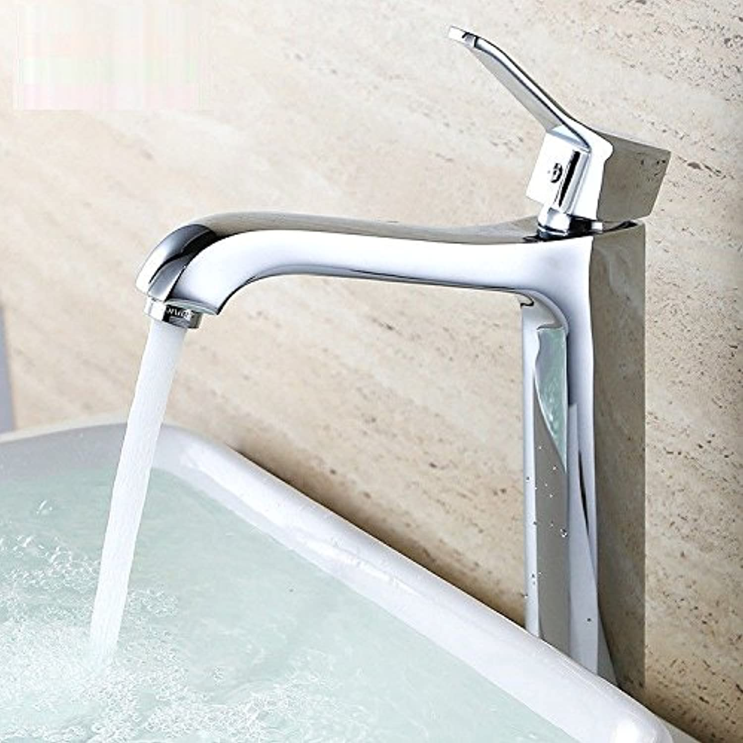 Commercial Single Lever Pull Down Kitchen Sink Faucet Brass Constructed Polished Single Hole Faucet Basin Single Unit Kitchen Hot and Cold Basin Mixed Water Hot and Cold Water Faucet Set