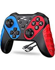 Wireless Pro Controller Compatible with Switch/ Switch Lite, Enhanced Pro Controller Remote with Auto Turbo/ Motion Function, Extra Replacement for Switch Controller