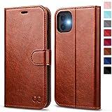 OCASE iPhone 11 Hülle Handyhülle [Premium Leder] [Standfunktion] [Kartenfach] [Magnetverschluss] Tasche Flip Hülle Cover Etui Schutzhülle lederhülle flip case für iPhone 11 Braun