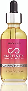 Hairfinity Nourishing Botanical Oil - Treatment for Dry Damaged Hair and Scalp with Jojoba, Olive, Sweet Almond, Grapeseed, Moringa Oils for Longer, Stronger Hair - Silicone Free 1.76 oz