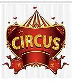 /N Zirkus Duschvorhang Karneval Zeichen Nachtleben Druck für Badezimmer