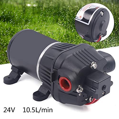 Wasserpumpe Hohe Druck Pumpe Membranwasserpumpe Selbstansaugend 24V 17 PSI Membranpumpe Hochdruckwasserpumpe Wasserdruckpumpe für Marine, Boot und Wohnmobil