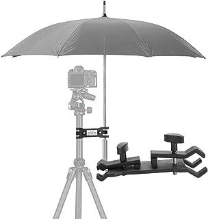 Mugast アンブレラ ホルダー 傘ホルダー クリップ 多用途クランプブラケット 撮影 動画 固定 天候 機材 屋外写真用 三脚対応