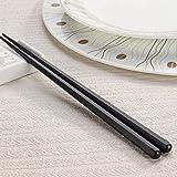 Deliu 1 par de Palillos japoneses de aleación Antideslizante de Madera Color Sushi Chop Stick Set Color Madera