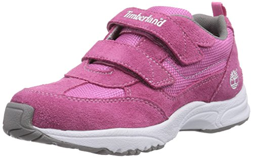 Timberland Unisex-Kinder Glow Series_Trail Finder Hook & Loop Low-Top, (Pink), 34 EU