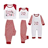 Fenverk Weihnachten Familie Outfit Set Matching Lange Ärmel Bluse + Plaid Lange Hosen Pyjama Set Xmas Schlafanzüge Nachtwäsche Feiertag Suit für Dad Mom Kinder Mädchen Jungen (D,Kind : 5-6 Jahre)