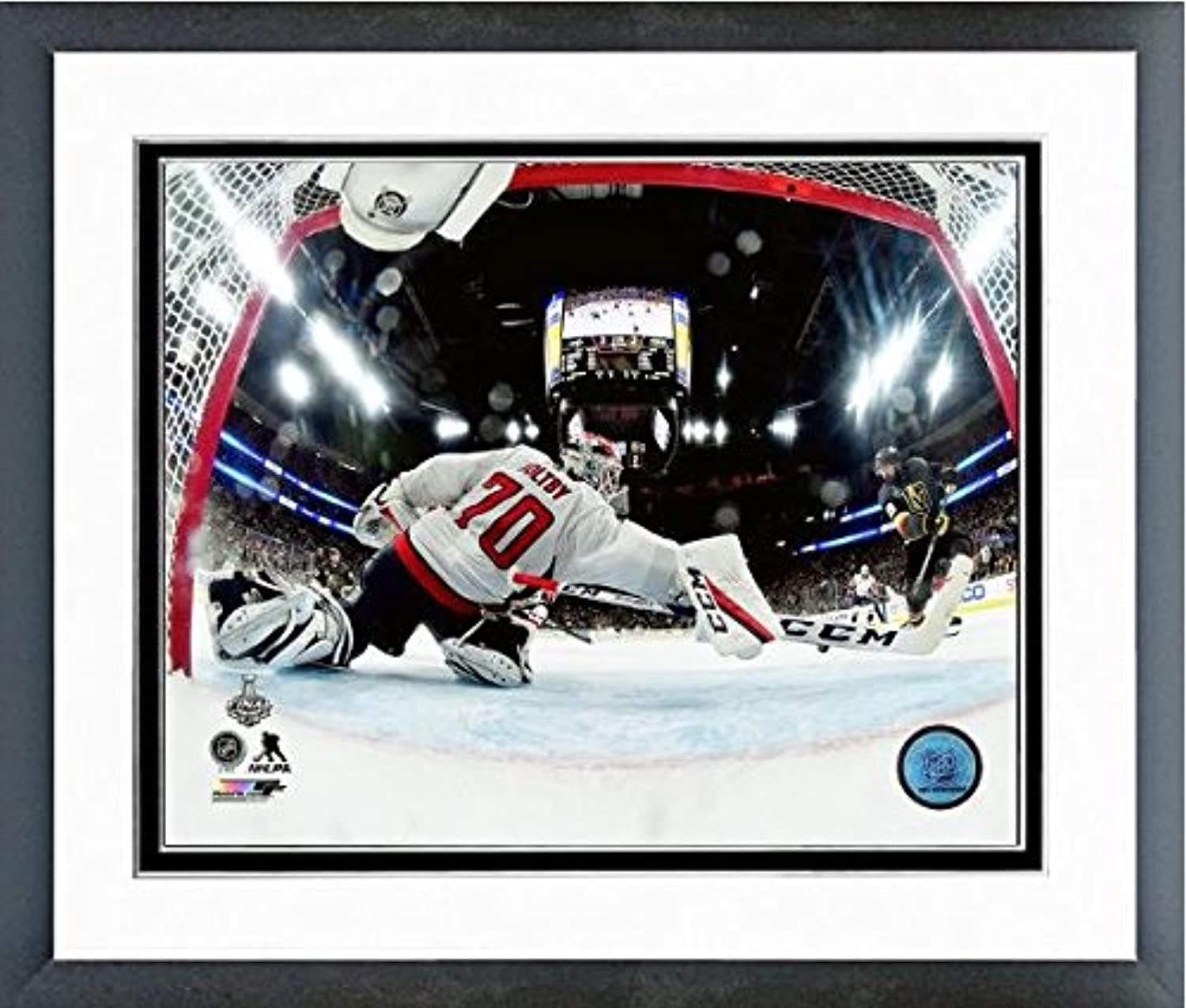 Braden Holtby Washington Capitals 2018 NHL Stanley Cup Finals Action Photo (Size  12.5  x 15.5 ) Framed