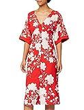 Marca Amazon - Truth & Fable Vestido Kimono Midi Mujer, Rojo (RED RED), 46, Label: XXL