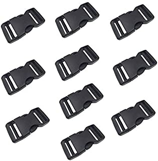 1 Inch Flat Dual Two Ways Adjustable Side Release Plastic Buckles(10pcs) by DGQ