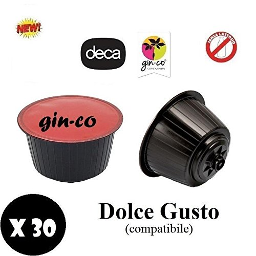 NATFOOD GINSENG GINCO SOLUBLE DECAFFEINATE CAPSULE COMPATIBLE DOLCE GUSTO NESCAFE' 30PZ