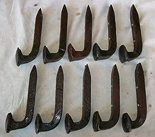 10 Railroad Spike Hooks (Coat Rack) (Tool OR Shop) Hangers