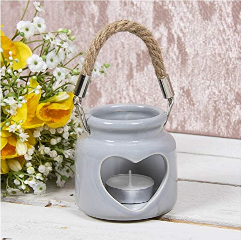 Lesser & Pavey Heart Shaped Candle Holder (GREY)