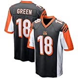 Rugby Jersey Football Jersey- # 18 A.J Green Cincinnati Bengals Sportswear Fans Sweatshirt Casual T-Shirt Manches Courtes Football Short Sleeve-C-XXXL(193++CM)