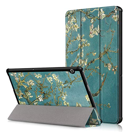 Acelive for Huawei T5 Case, Ultra Slim Smart Leather Case Cover with Stand Function for Huawei Mediapad T5 10 10.1 Inch Tablet 2018